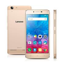 """Smartphone Lenovo Vibe K5 Dourado com Dual Chip, Tela de 5"""", 4G, 16 GB, Câmera 13MP + Frontal 5MP e Android 5.1"""