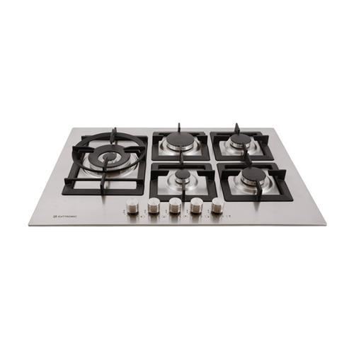 Cooktop a Gás Elettromec Quadratto Inox com 5 bocas e Acendimento Automático Bivolt C701-Z5XQ
