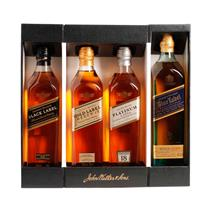 Whisky Johnnie Walker Kit Collection com 4 garrafas 200ml