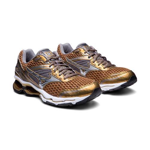 Tênis Mizuno Wave Creation 17 Golden Runners Dourado Feminino