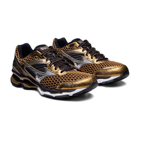 Tênis Mizuno Wave Creation 17 Golden Runners Dourado Masculino