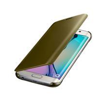 Capa Protetora Samsung Clear View Dourada para Galaxy S6 Edge
