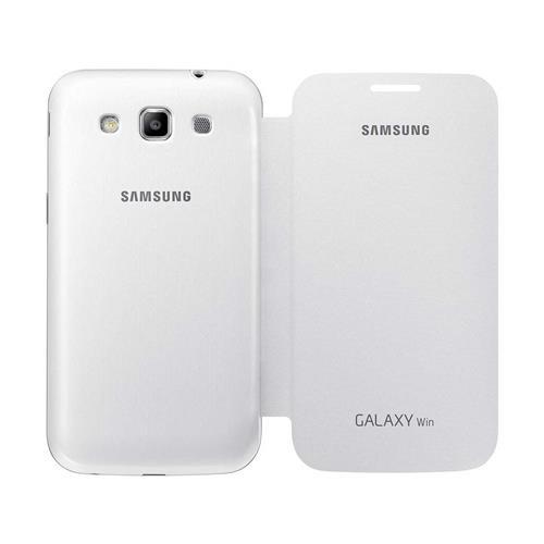Capa Protetora Samsung Flip Branca para Galaxy Win