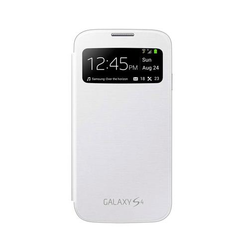 Capa Protetora Samsung S View Branca para Galaxy S4