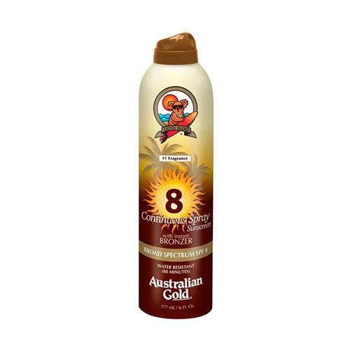 Australian Gold FPS 8 Continuos Spray With Instant Bronzer - Protetor Solar 177 ml