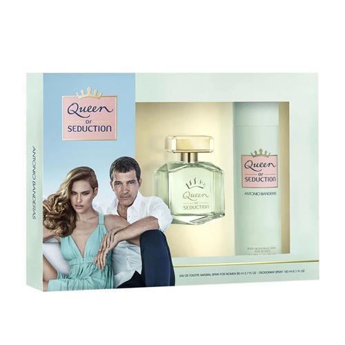 Coffret Antonio Banderas Queen Of Seduction Feminino - Eau de Toilette 80 ml + Desodorante 150 ml