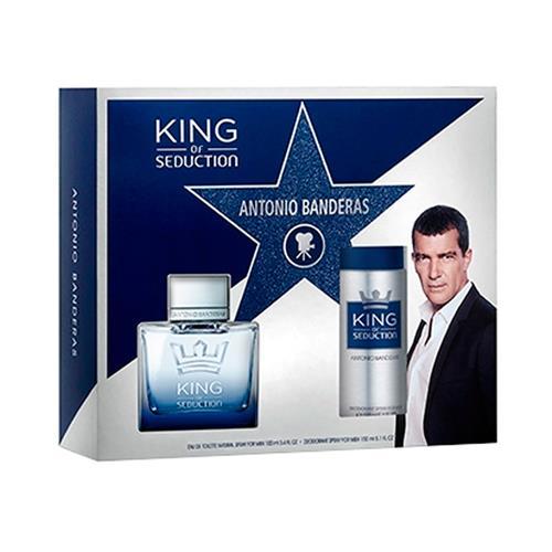 Coffret Antonio Banderas King Of Seduction Masculino - Eau de Toilette 100 ml + Desodorante 150 ml