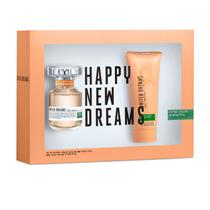 Coffret Benetton United Dreams Stay Positive Feminino - Eau de Toilette 80 ml + Body Lotion 100 ml