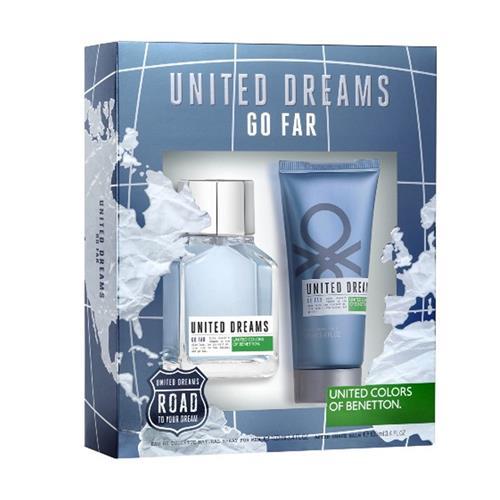 Coffret Benetton United Dreams Go Far Masculino - Eau de Toilette 100 ml + Pós barba 100 ml