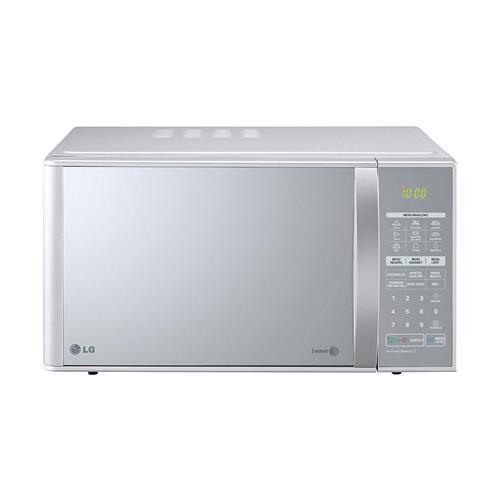 Micro-ondas LG Prata e Espelhado 30L com Grill e Easy Clean MH7053