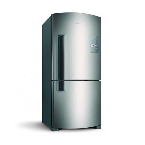 Refrigerador Brastemp Inverse Maxi Frost Free Inox 573 litros 220 V BRE80ARBNA