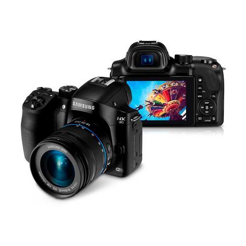 Câmera Digital Samsung Smart NX30 Preta 20.3 MP, Wi-Fi e NFC