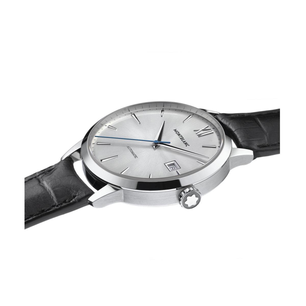 360ef520b7c Relógio Montblanc Heritage Spirit Date Automatic com Pulseira de Couro Preto