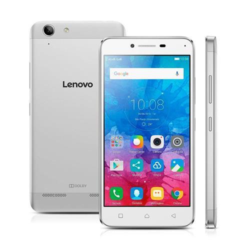 """Smartphone Lenovo Vibe K5 Prata com Dual Chip, Tela de 5"""", 4G, 16 GB, Câmera 13MP + Frontal 5MP e Android 5.1.1"""