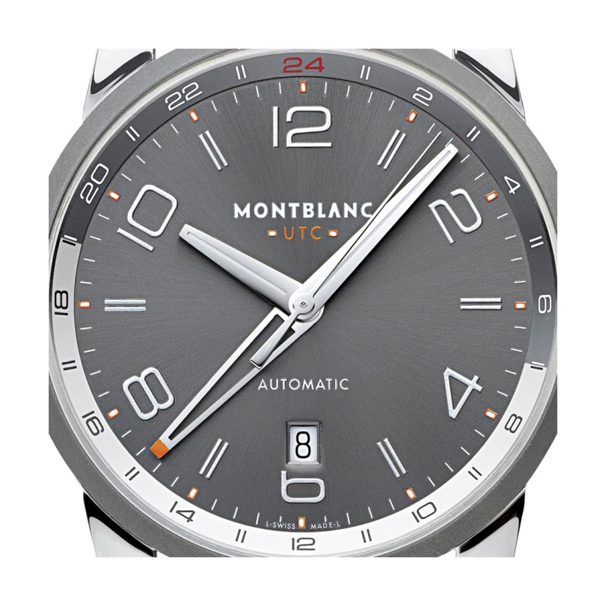 f11e4346e66 Relógio Montblanc TimeWalker Voyager UTC com Pulseira de Couro Preto