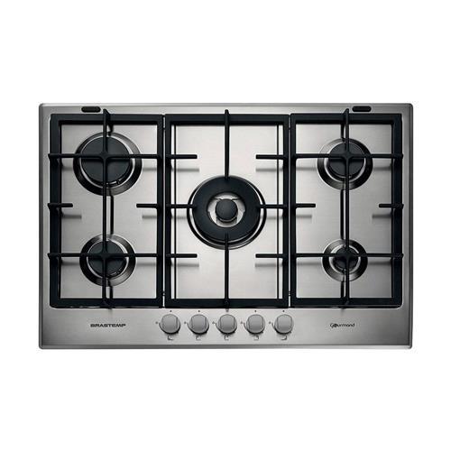 Cooktop a Gás Brastemp Gourmand Inox com 5 bocas e Dupla-chama 220 V BDK75DRBNA
