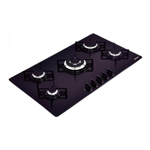 Cooktop a Gás Tramontina Penta Plus B Preto com 5 bocas e Tripla Chama Bivolt 94709201
