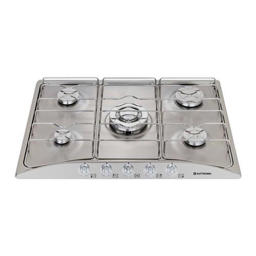 Cooktop a Gás Elettromec Splendore Inox com 5 bocas Bivolt C701-XX5