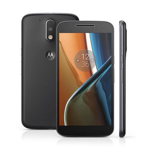 """Smartphone Motorola Moto G4 Preto com Dual Chip, Tela de 5.5"""", 4G, 16GB, Câmera 13MP + Frontal 5MP e Android 6.0"""