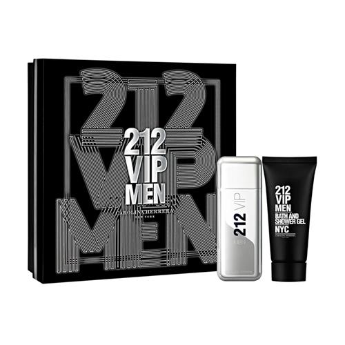 Coffret Carolina Herrera 212 VIP Men Masculino - EDT 100 ml + Gel de Banho 100 ml