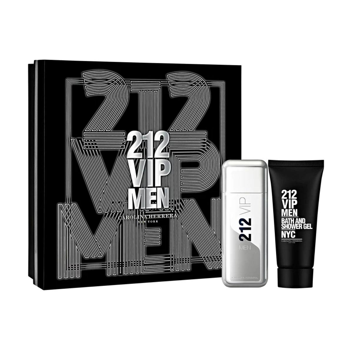 a2dff83631 Coffret Carolina Herrera 212 VIP Men Masculino - EDT 100 ml + Gel de Banho 100  ml