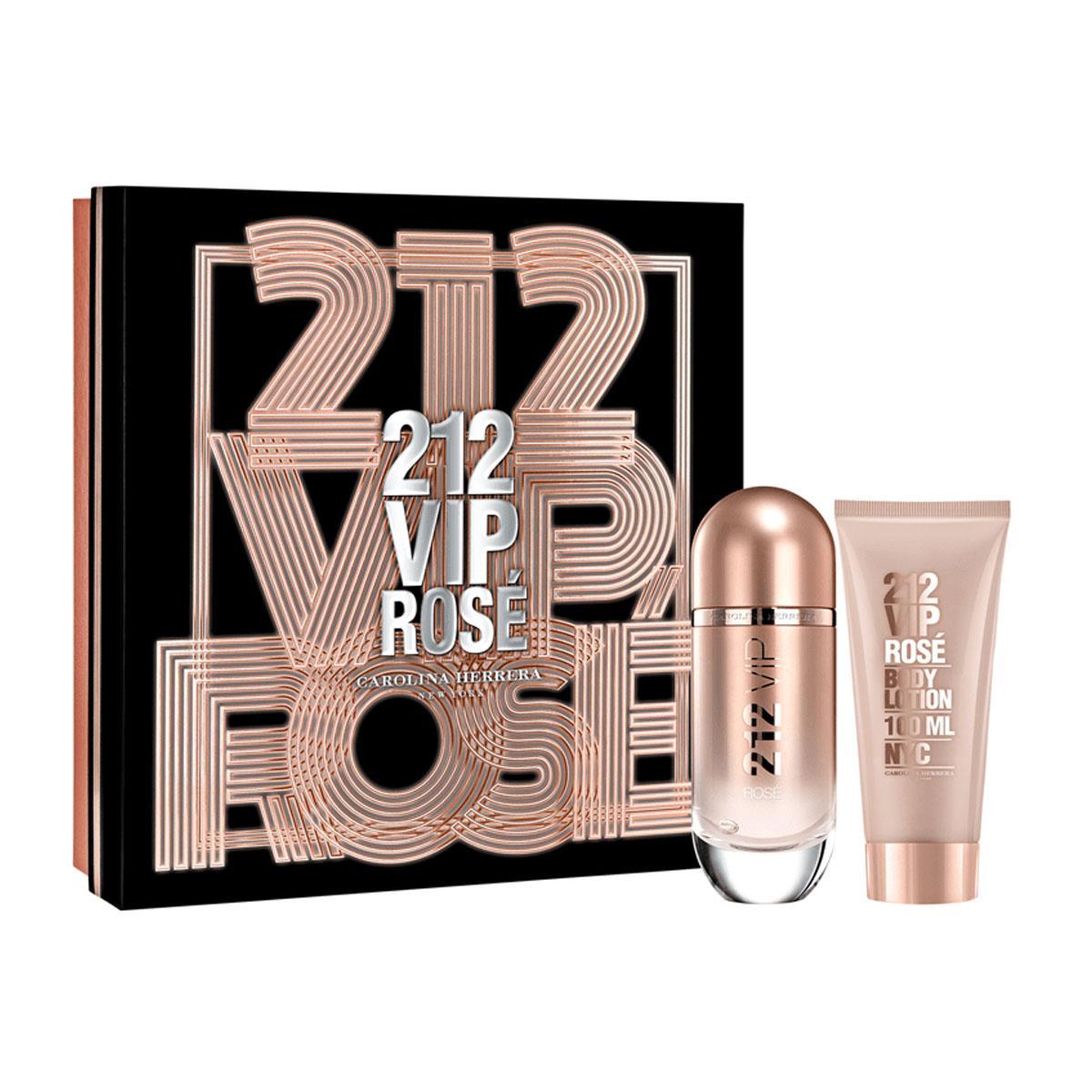 60f8a55e2 Coffret Carolina Herrera 212 VIP Rosé Feminino - Eau de Parfum 80 ml + Body  Lotion 75 ml