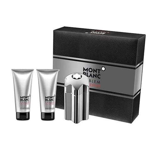 Coffret Montblanc Emblem Intense Masculino - Eau de Toilette 100 ml + Pós Barba 100 ml + Gel de Banho 100 ml