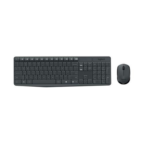 Kit Teclado e Mouse sem Fio Logitech Wireless MK235 Preto