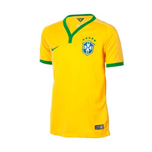 Camisa Nike CBF Home Amarela nº10 2014 Torcedor 20111943112b2