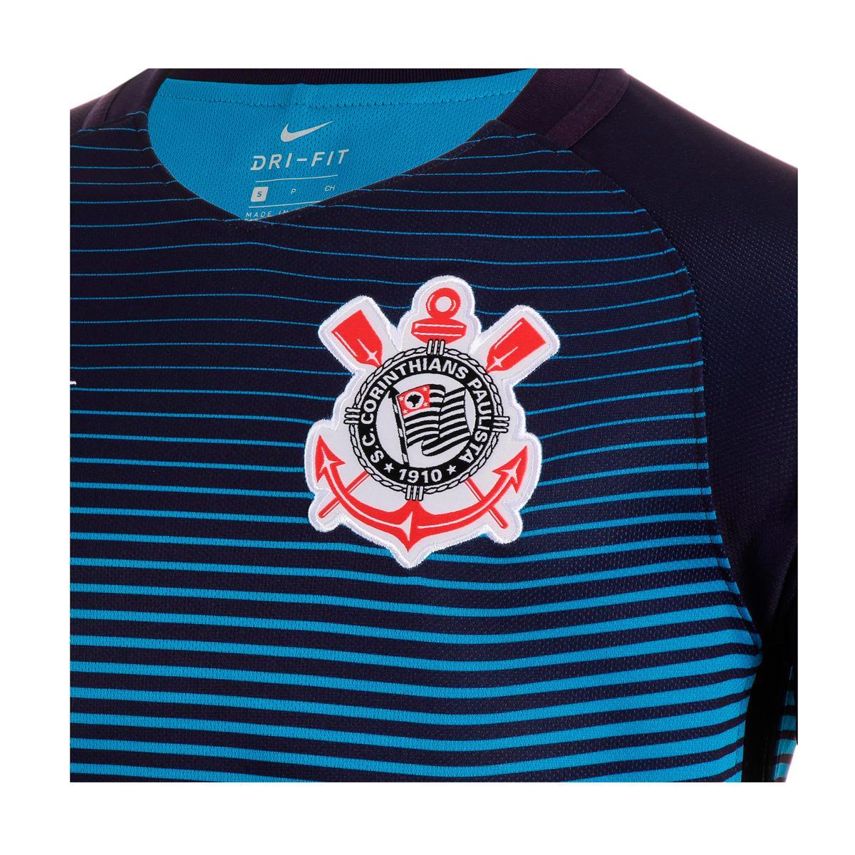 Camisa Nike Corinthians III 2016 2017 Torcedor Masculina c3e9549ff7556