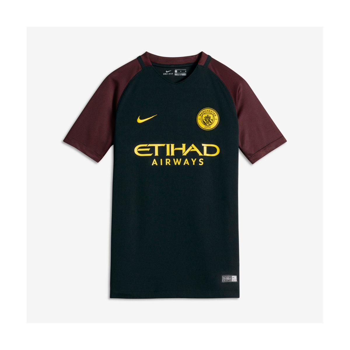 c97a3a1c4e250 Camisa Nike Manchester City II Torcedor Infantil 2016 2017