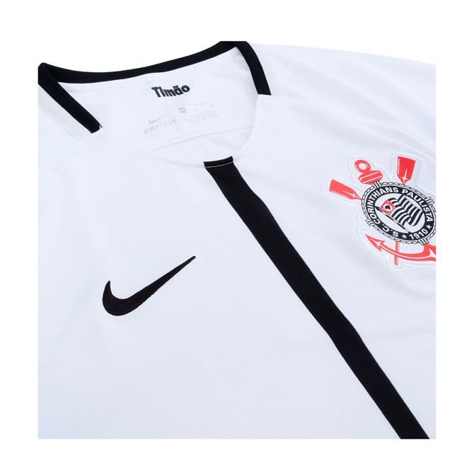 Camisa Nike Corinthians I 2017 2018 Torcedor Masculina. Ampliar 08721dafe797b