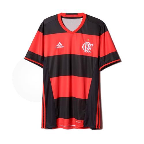 Camisa Adidas Flamengo I 2017 2018 Torcedor Masculina de2f05c29695d