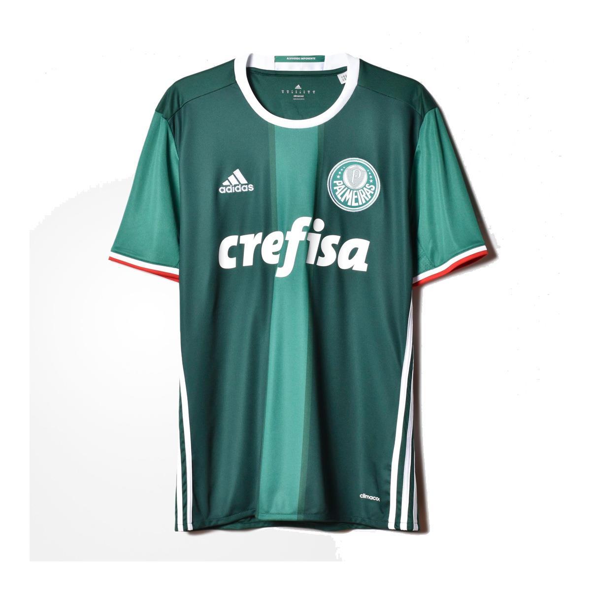 ac4b8e2ff3877 Camisa Adidas Palmeiras I 2016 Torcedor Masculino