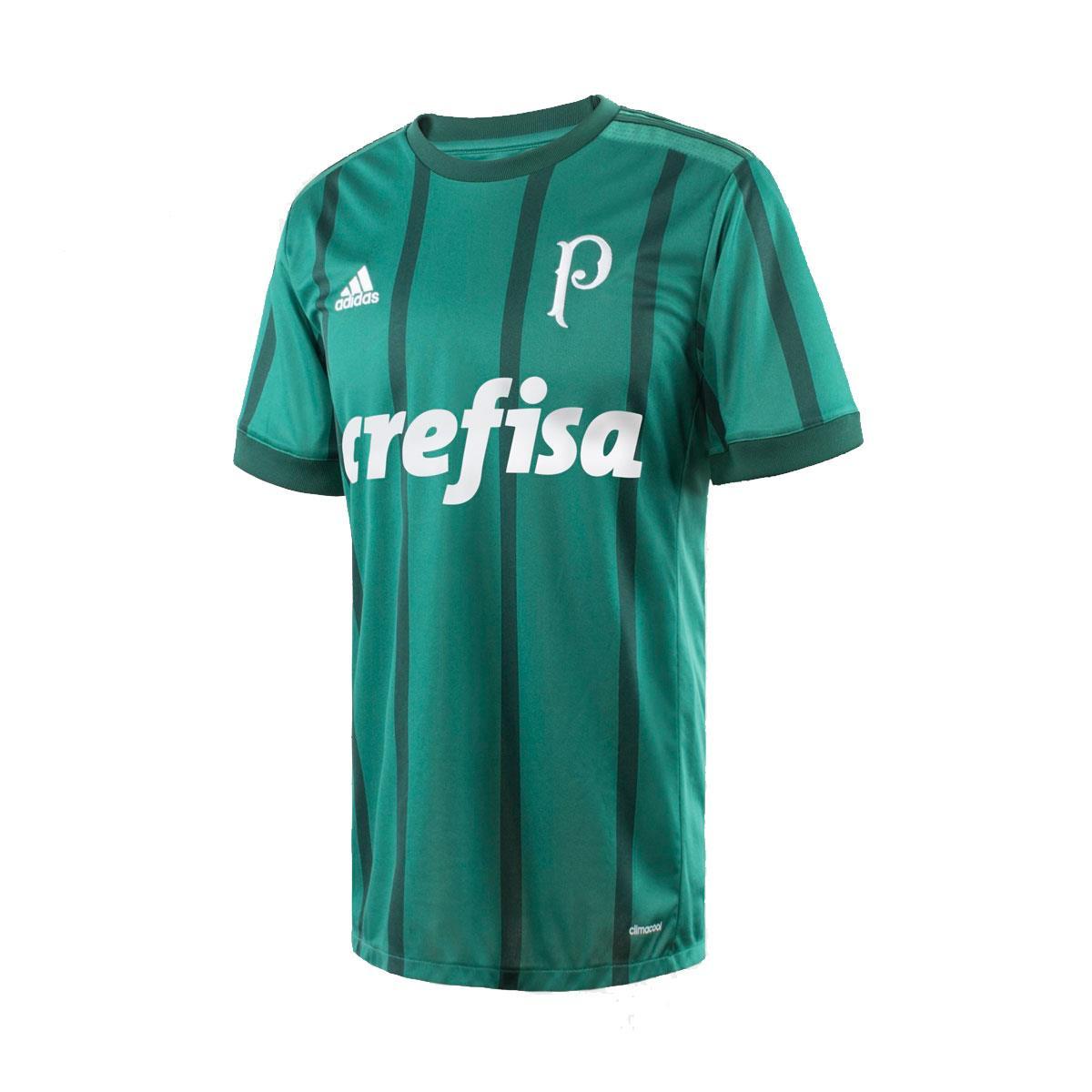 e60ee3ddc7 Camisa Adidas Palmeiras I 2017 2018 Torcedor Masculino