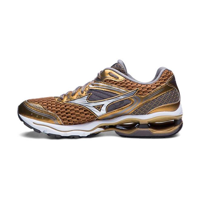 Tênis Mizuno Wave Creation 17 Golden Runners Dourado Feminino. Ampliar 70ffbc33b0f97