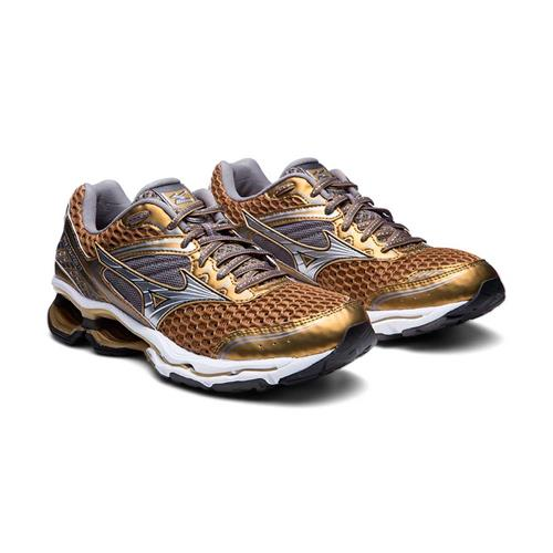 Tênis Mizuno Wave Creation 17 Golden Runners Dourado Feminino 7fb5c1ddbd06d