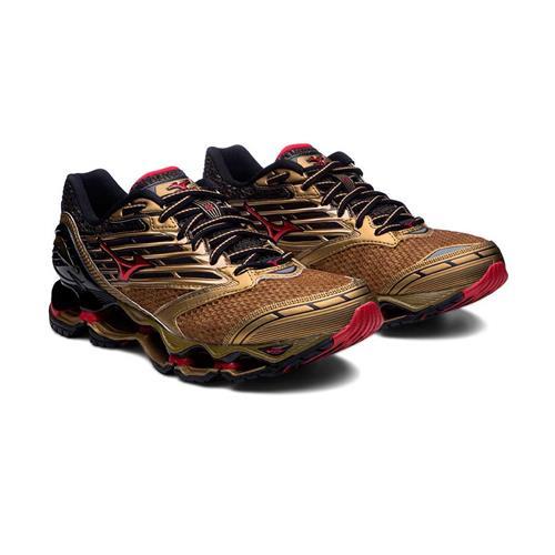 5d90957483 Tênis Mizuno Wave Prophecy 5 Golden Runners Dourado Masculino