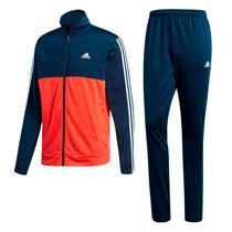Agasalho Adidas Back 2 Basics Masculino Azul   Laranja b2bded81294aa