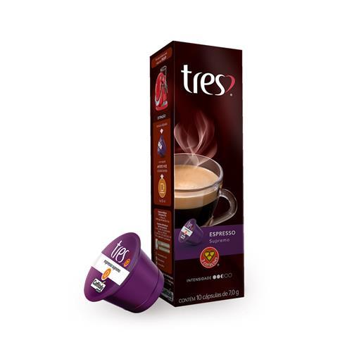 Cápsula de Café Três Corações Espresso Supremo 10 unidades