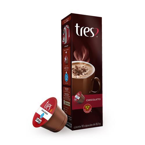 Cápsula Três Corações Chocolatto 10 unidades