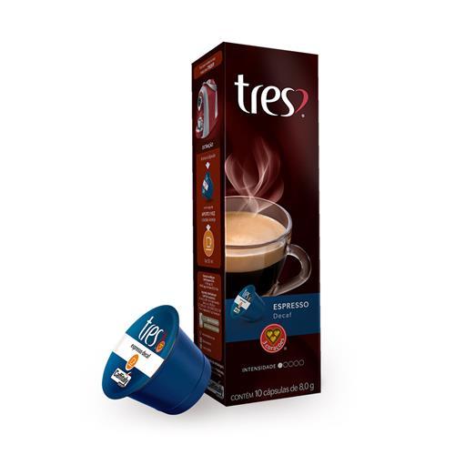 Cápsula de Café Três Corações Espresso Decaf 10 unidades