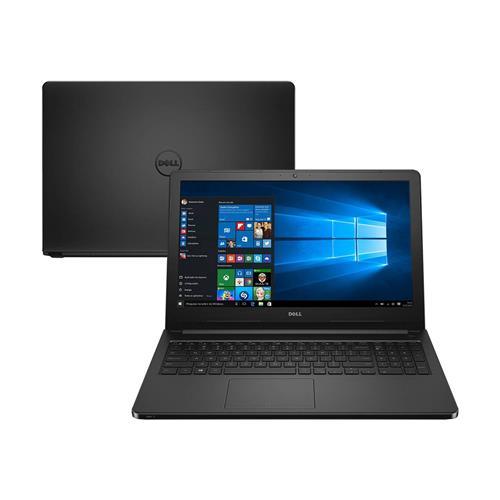 """Notebook Dell Inspiron 5000 (5566) Preto 15.6"""", 4GB, 1TB, Windows 10 e Intel Core"""