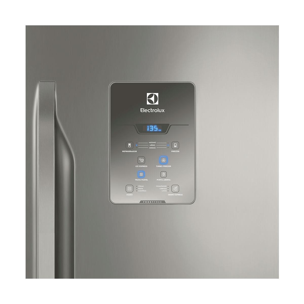 224b41b54 Refrigerador Electrolux DB84 Branco 598L Frost Free Bottom Freezer
