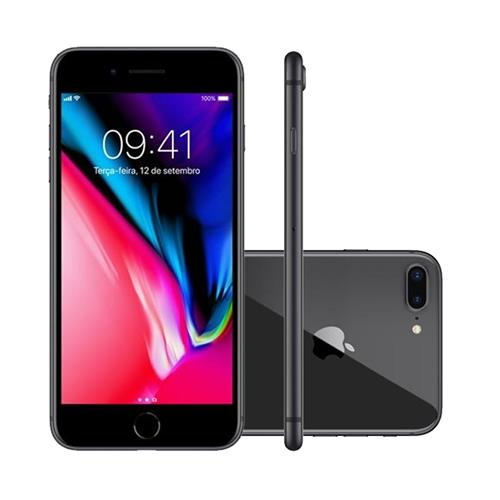 "Smartphone Apple iPhone 8 Plus 5.5"", Câmera 12MP Dupla + Frontal 7MP com iOS 11"