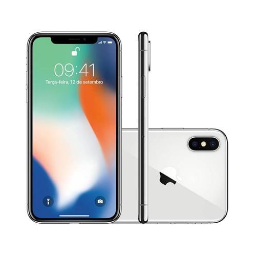 "Smartphone Apple iPhone X 5.8"", Câmera 12MP Dual + Frontal 7MP com iOS 11"