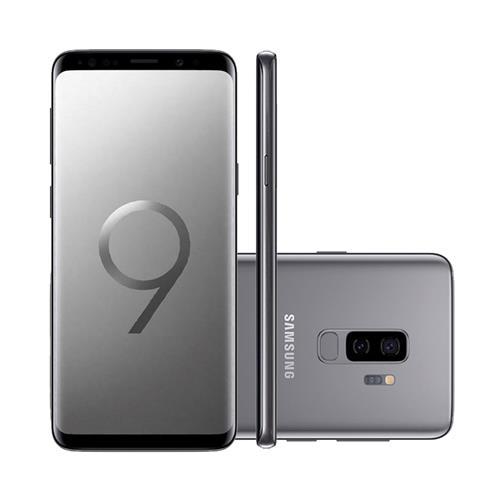 "Smartphone Samsung Galaxy S9+ 6.2"", Câmera 12MP Dual + Frontal 8 MP com Android 8.0"
