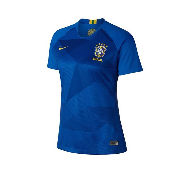 325506054 Camisa Nike Brasil II 2018 19 Torcedora Feminina. Ampliar