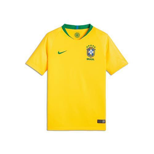 d0c9f18641 Camisa Nike Brasil 2018 19 Torcedor Réplica Infantil