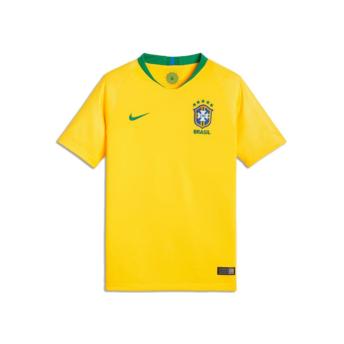 d26b17649 Camisa Nike Brasil 2018 19 Torcedor Réplica Infantil